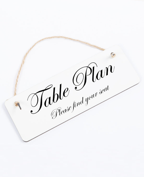 Table Plan - Hanging Sign
