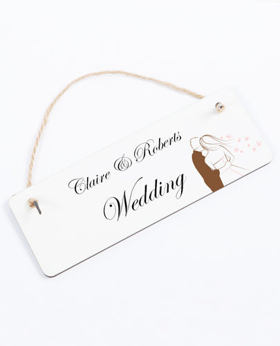 Wedding Day - Hanging Sign - The Print Cave