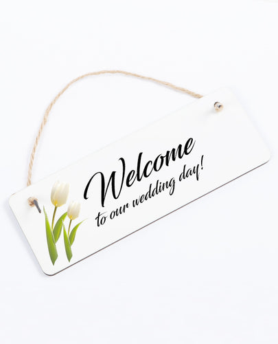 Welcome - Hanging Sign - The Print Cave