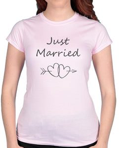 Just Married Hearts - Tshirt / Vest - The Print Cave