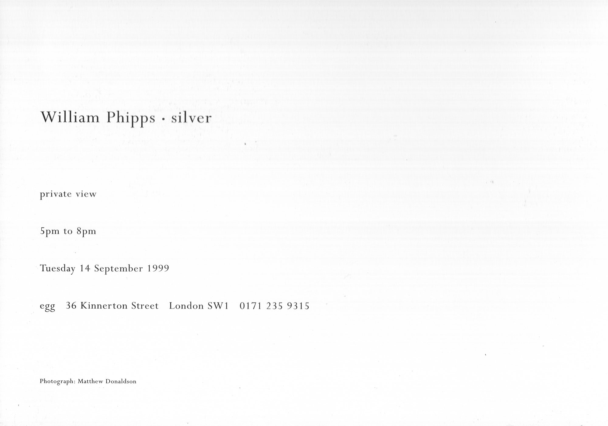 william phipps September 1999