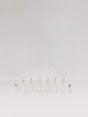 set of 8 volumetric flasks