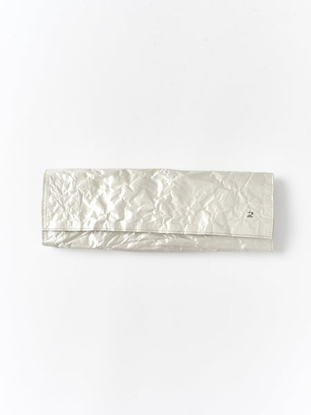 panna long satin clutch