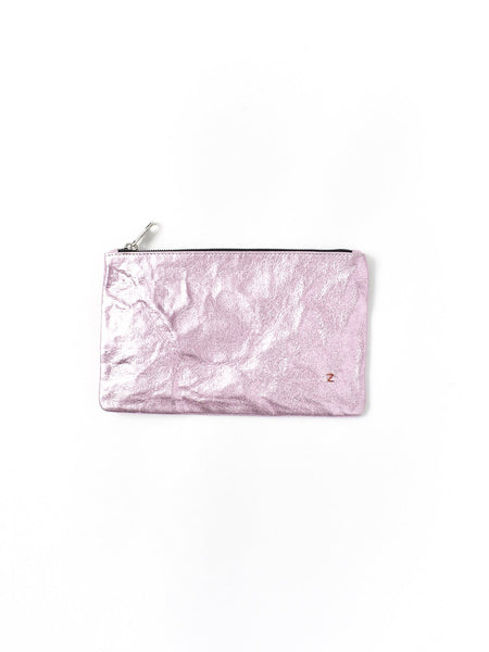 pink metallic purse
