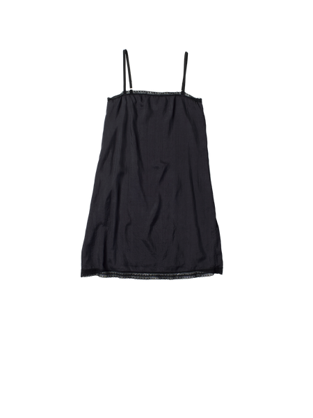 black silk slip
