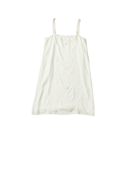 white silk slip