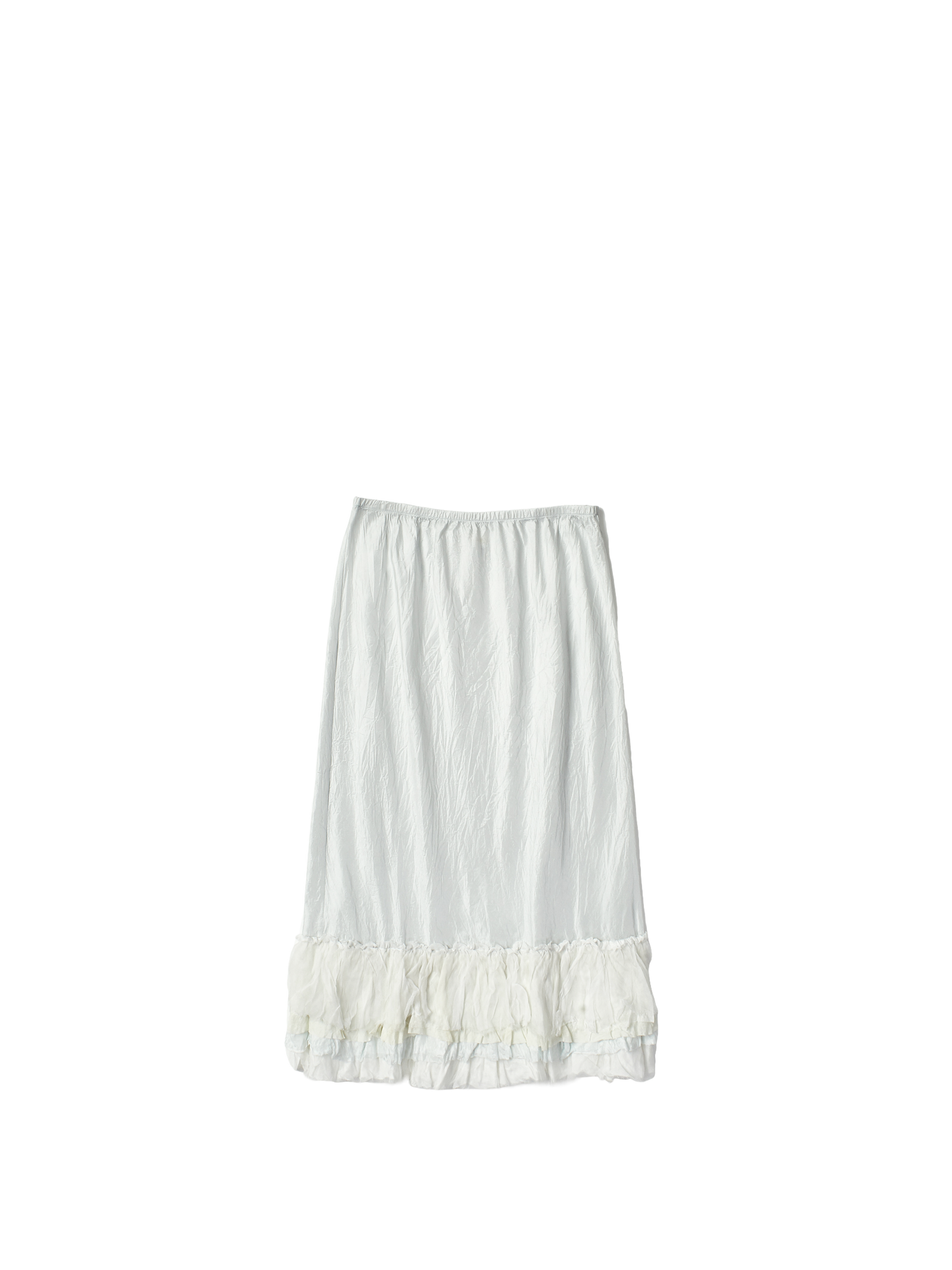white silk skirt