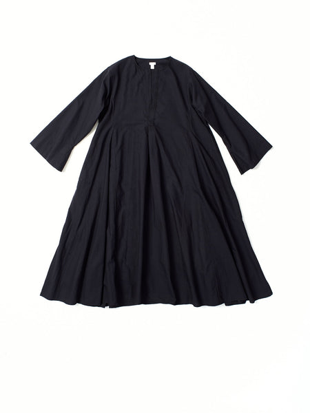 black khadi cotton dress