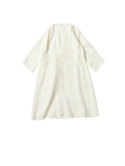 white khadi silk dress