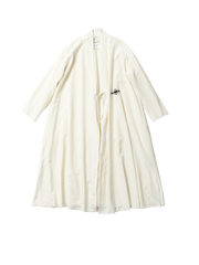 white embroidered coat