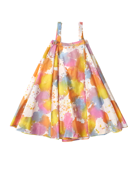 multicoloured dress with straps