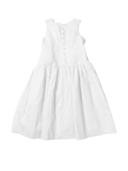 white pinafore dress