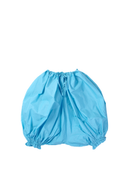blue puffy shorts