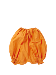 orange puffy shorts.