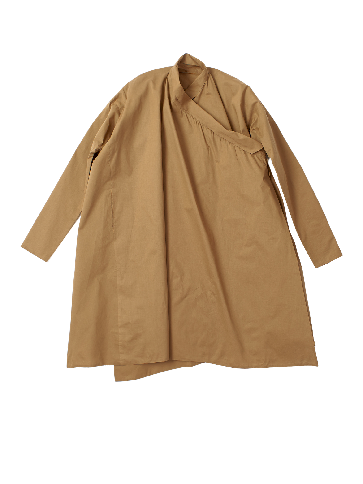 brown crossover coat