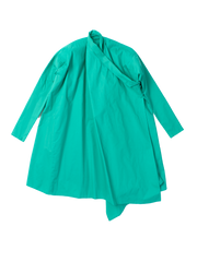 green crossover coat