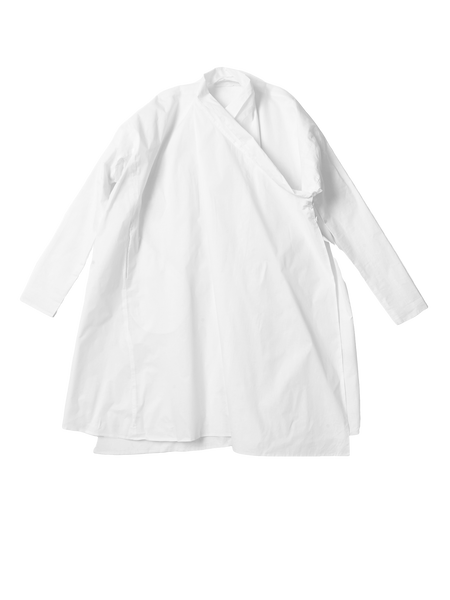 white crossover coat