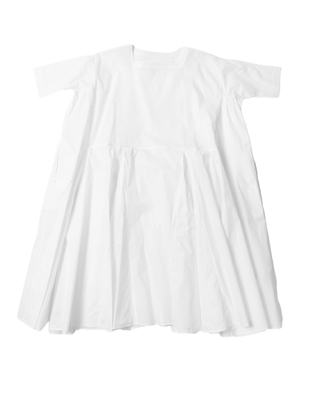 white pleated dress