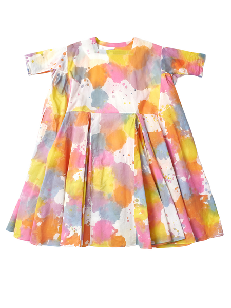 multicolour pleat dress