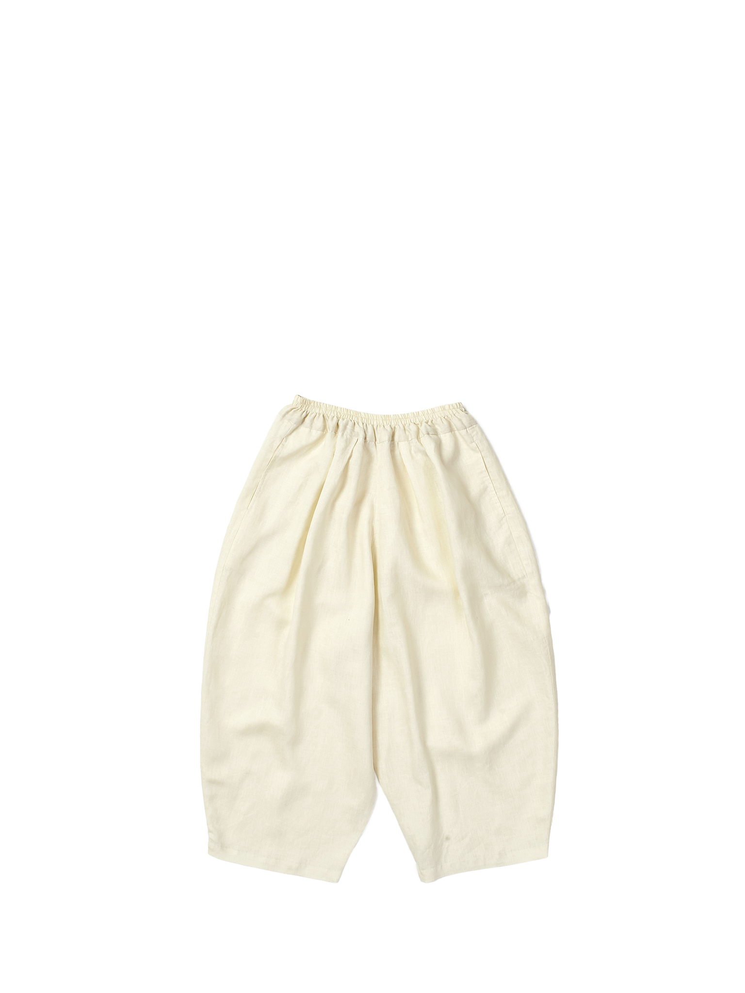 white linen baggy trousers
