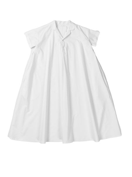 white shortsleeve dress
