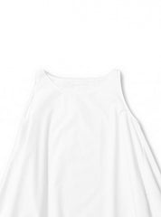 white roundneck dress