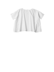 white tshirt in oxford fabric