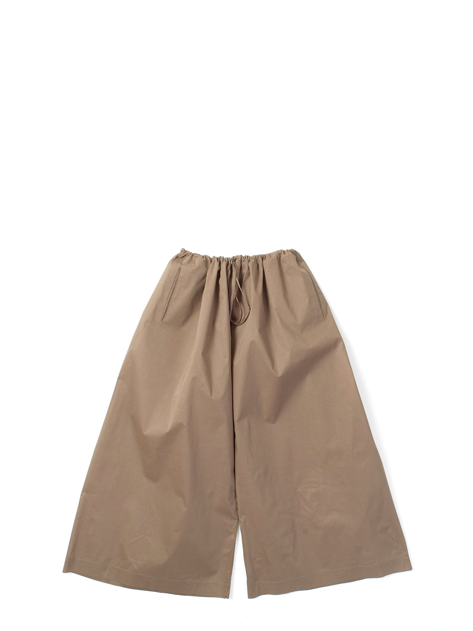 brown drawstring trousers