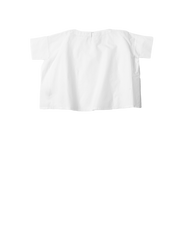 white crispy cotton tshirt