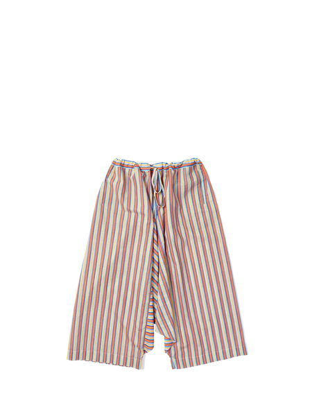 drawstring full trouser in khadi multi thin stripe