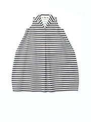 dress with collar in canvas stripe