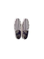 stripe slipper shoe