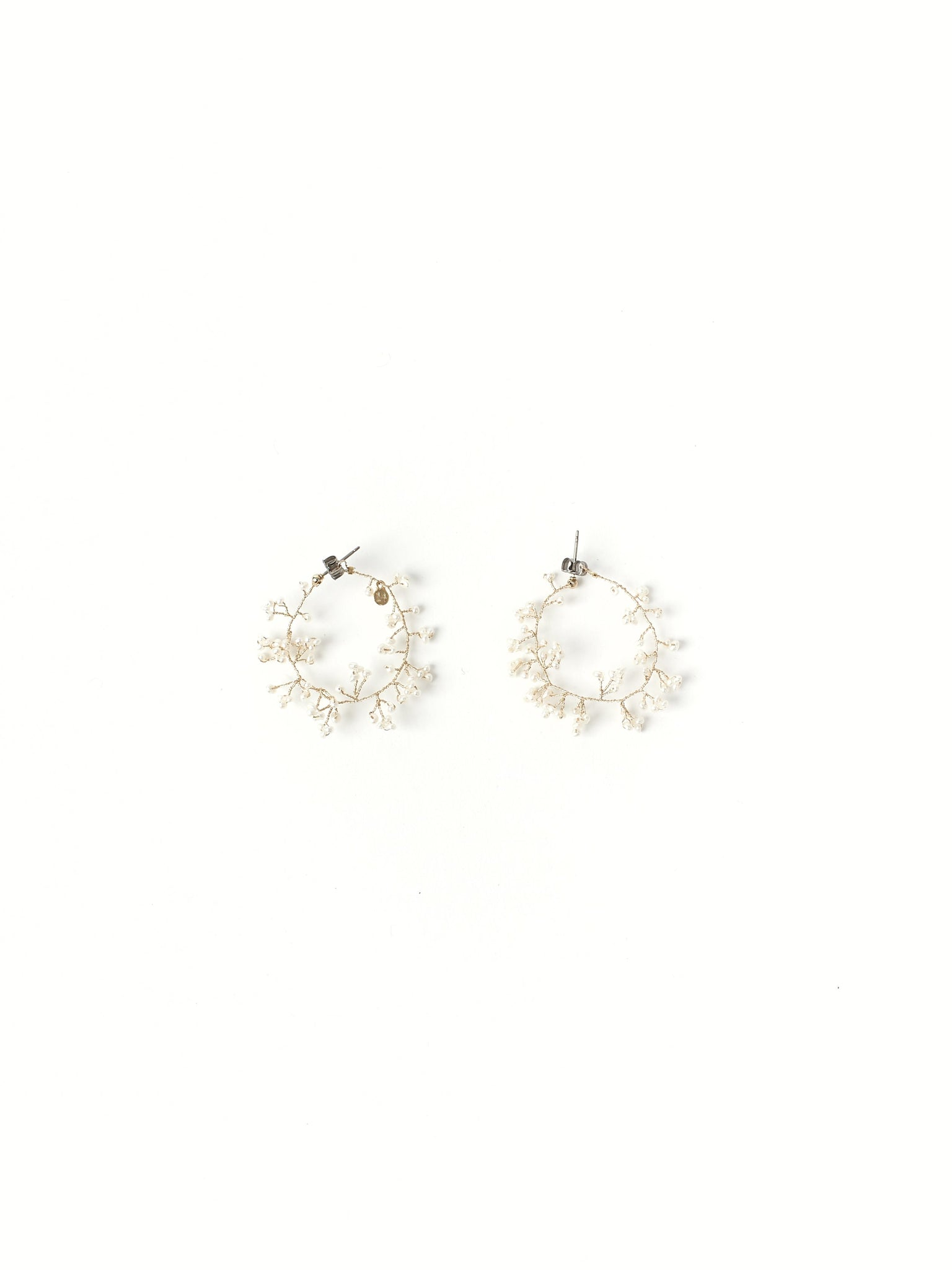 gypsophila hoop earrings