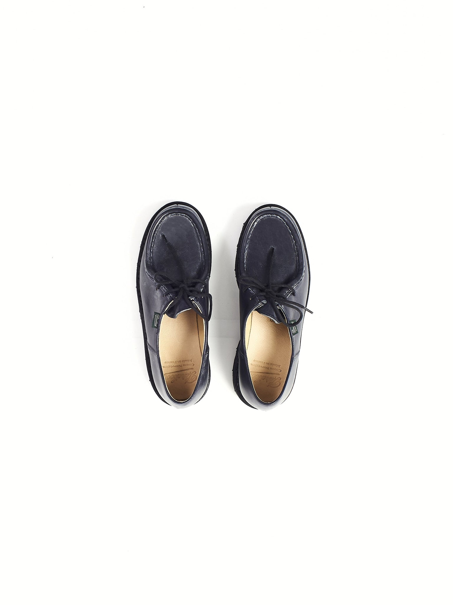 navy paraboot leather lace up michael shoe