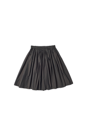 black lightweight cotton mix petticoat skirt