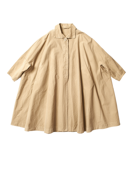 beige cotton oversized atom coat