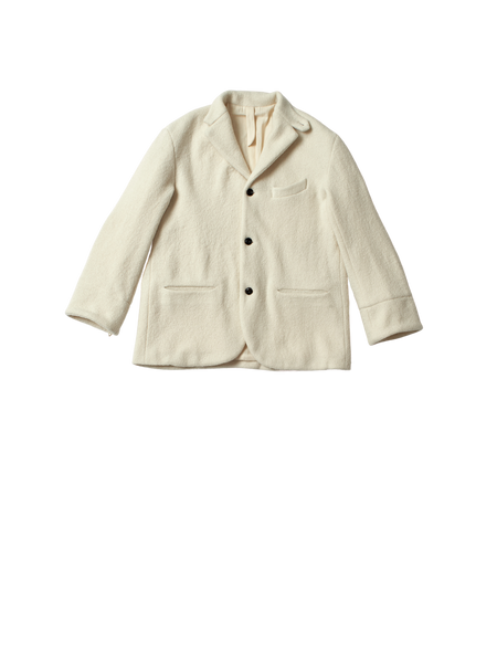 white organic boiled wool blazer edouard jacket