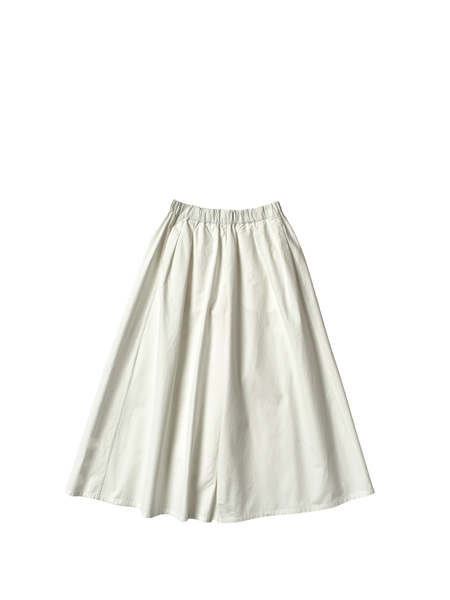 wide leg white canvas annie trousers