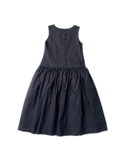 blue cotton pinafore elba dress