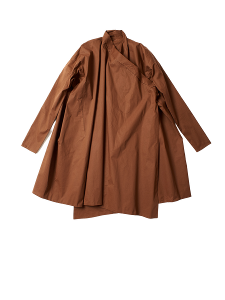 crossover lightweight brown cotton jama coat