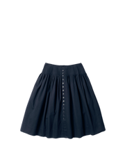 black denim full pleated nina skirt