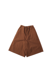 brown canvas drawstring culotte zachary trousers
