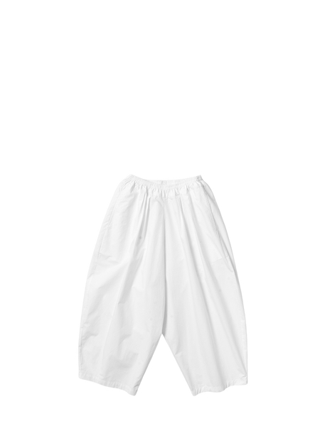 white oxford cotton basic baggy short trousers