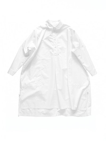white oxford cotton wide button down frank shirt