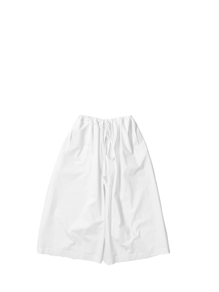 white cotton poplin square drawstring paijama trousers