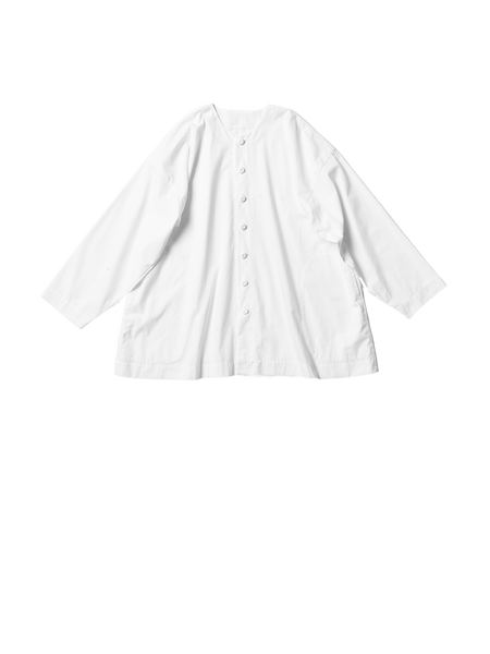 white cotton poplin square jacket