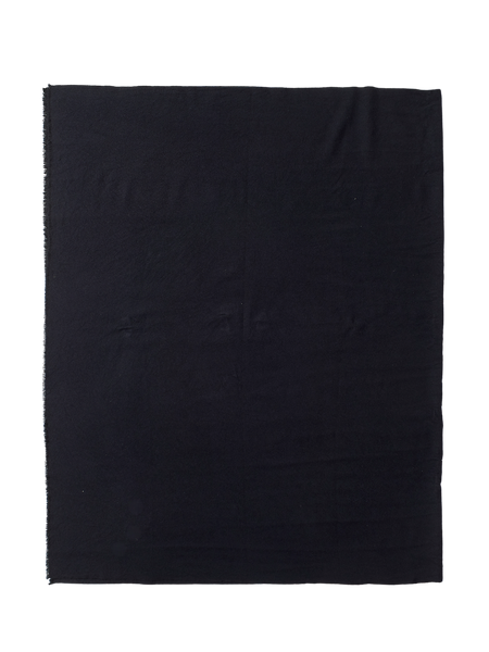 black navy cashmere large wrap double square scarf