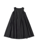 black square neck petticoat p dress