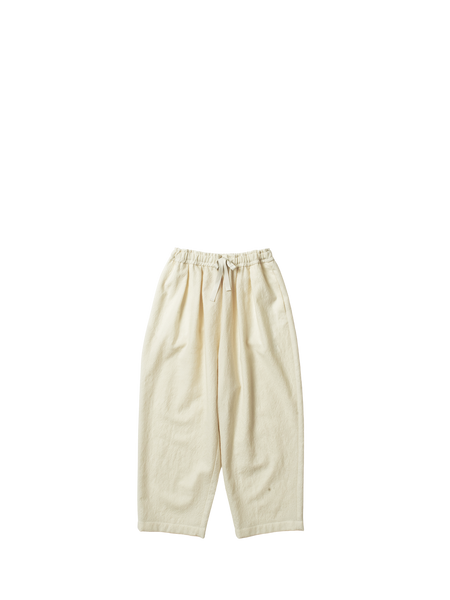 white washed wool gathered poussin trousers