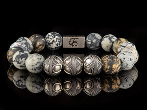 Aborigine - Exclusive Silver Men's Stone Bracelet